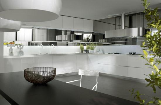 biala kuchnia 10 Nowoczesne białe kuchnie   8 różnych projektów