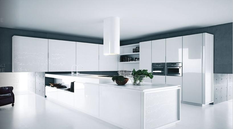 biala kuchnia 4 Nowoczesne białe kuchnie   8 różnych projektów