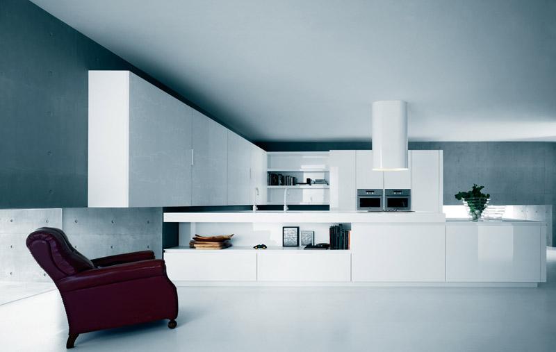 biala kuchnia 6 Nowoczesne białe kuchnie   8 różnych projektów