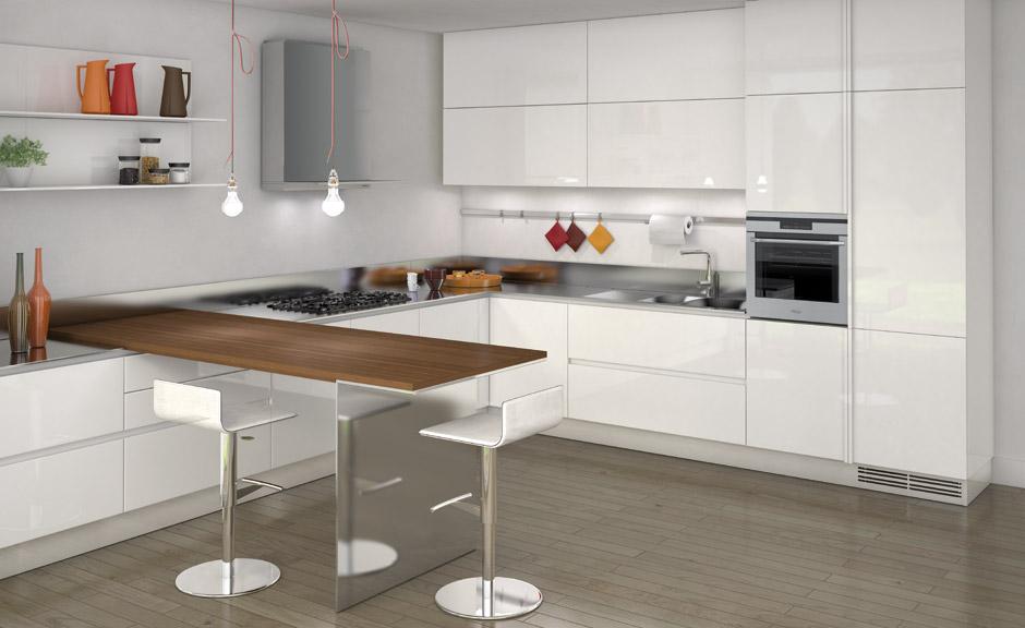 biala kuchnia 8 Nowoczesne białe kuchnie   8 różnych projektów