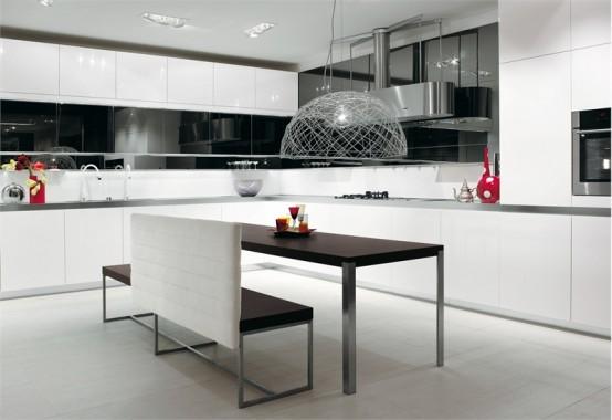 biala kuchnia 9 Nowoczesne białe kuchnie   8 różnych projektów