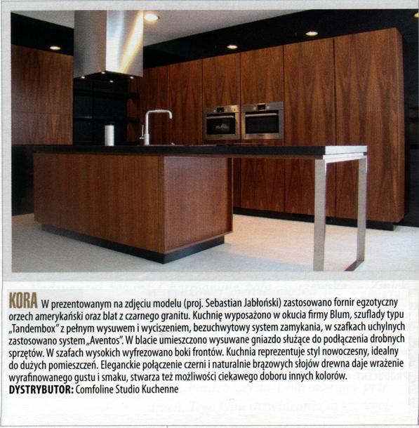 comfoline gazeta 1 Nasze kuchnie w miesięczniku Biznes Meble.pl