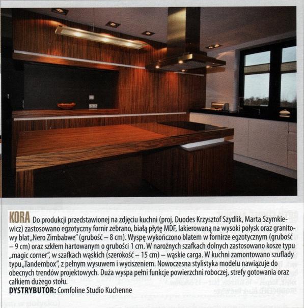 comfoline gazeta 2 Nasze kuchnie w miesięczniku Biznes Meble.pl