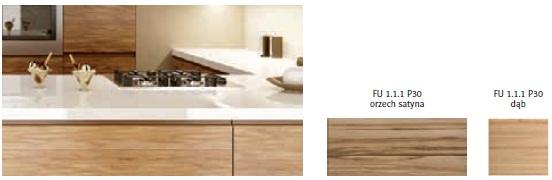 drewopol 1a Nowoczesna drewniana kuchnia bez uchwytów   4 różne modele