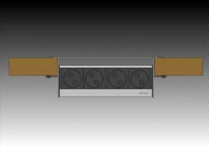 evoline fliptop wymiary 300x212 Gniazdka w kuchni   kolejne 3 modele gniazdek, które można zamontować w blacie kuchennym