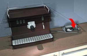 hettich gniazdko rys 300x195 Gniazdka w kuchni   kolejne 3 modele gniazdek, które można zamontować w blacie kuchennym