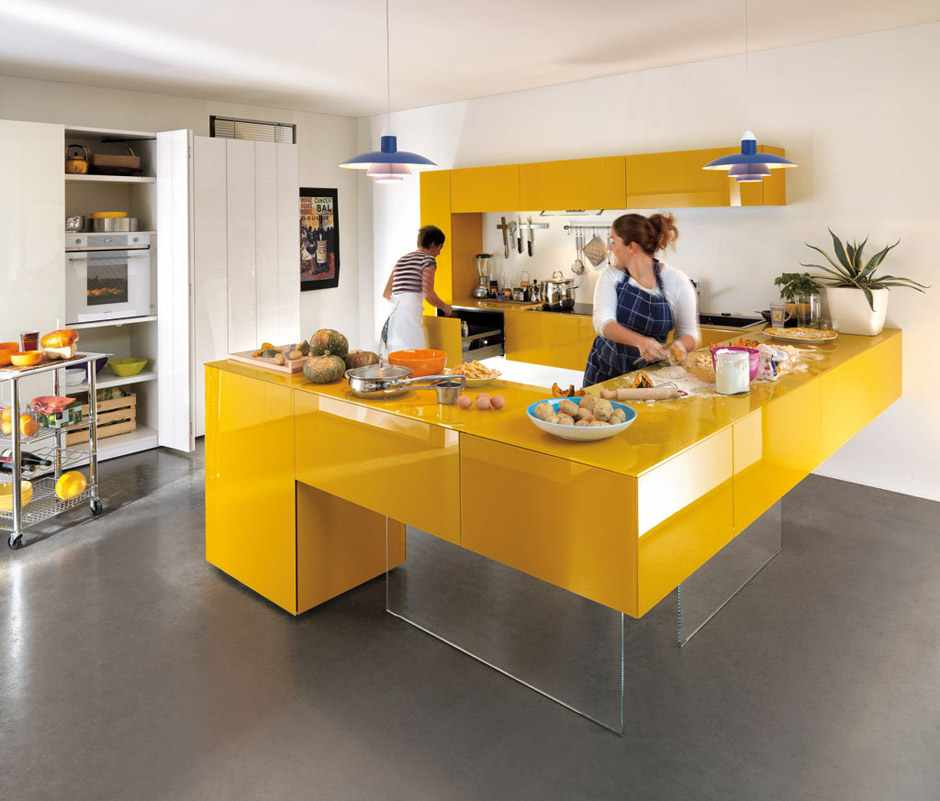 kolorowe kuchnie kombinacje kolorów lago 10 Kolorowe kuchnie