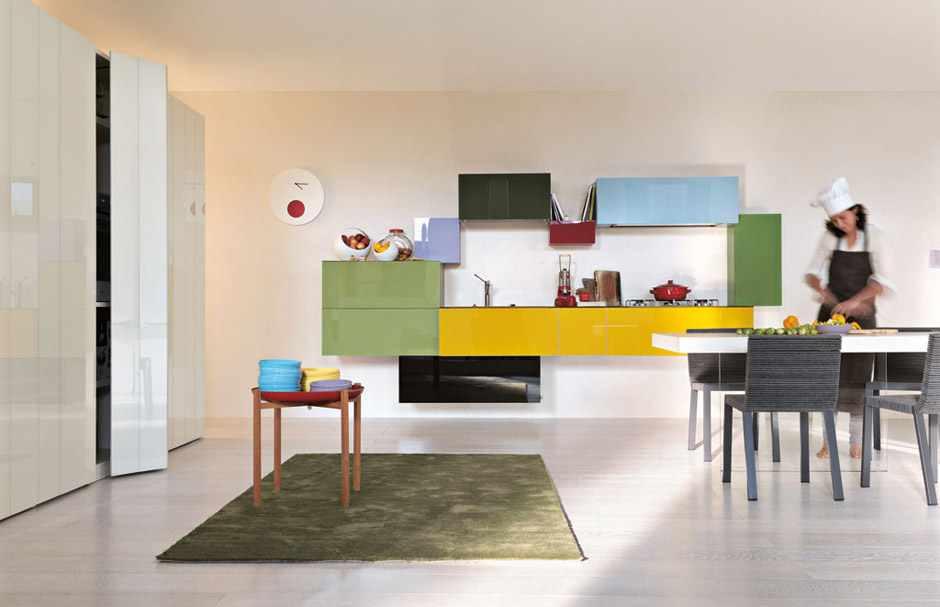 kolorowe kuchnie kombinacje kolorów lago 12 Kolorowe kuchnie