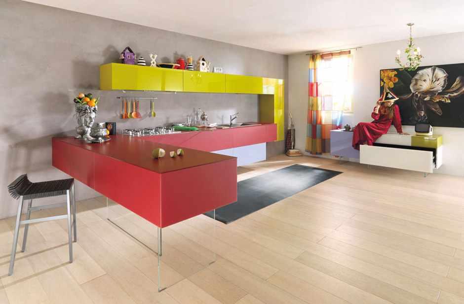 kolorowe kuchnie kombinacje kolorów lago 13 Kolorowe kuchnie